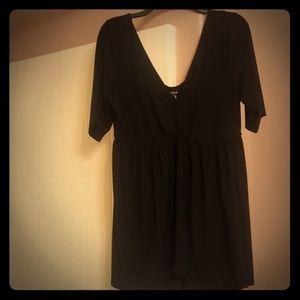 Black short sleeves blouse